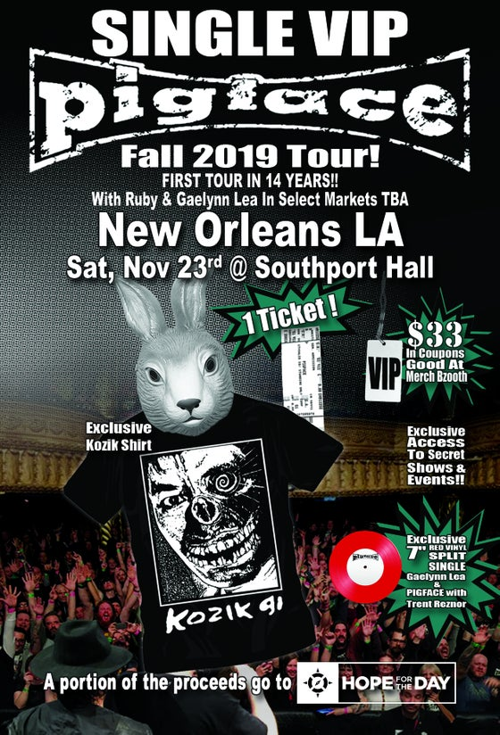 Image of VIP Single Ticket Sat. Nov 23rd New Orleans, LA @ Southport Hall