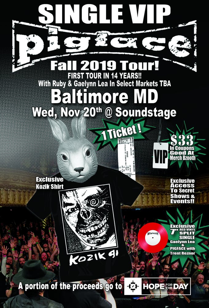 Image of VIP Single Ticket Wed. Nov. 20th Baltimore, MD @ Soundstage