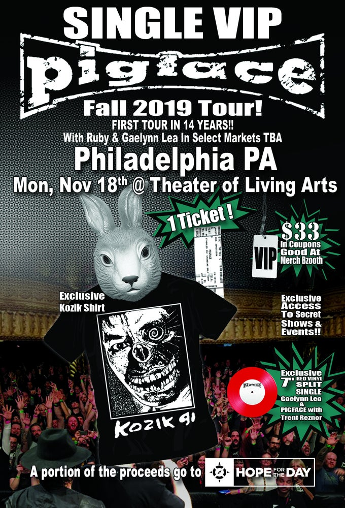Image of VIP Single Ticket Mon. Nov. 18th Philadelphia, PA @ Theatre of the Living Arts