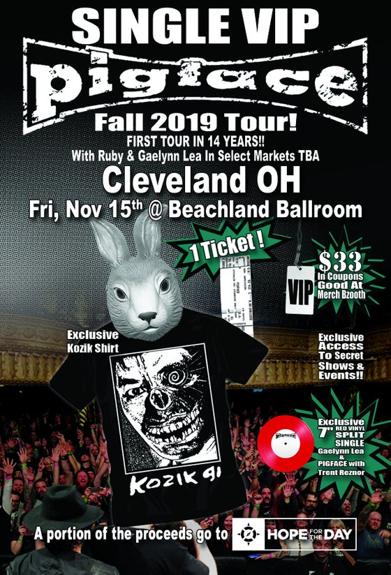 Image of VIP Single Ticket Fri. Nov. 15th Cleveland, OH @ Beachland Ballroom