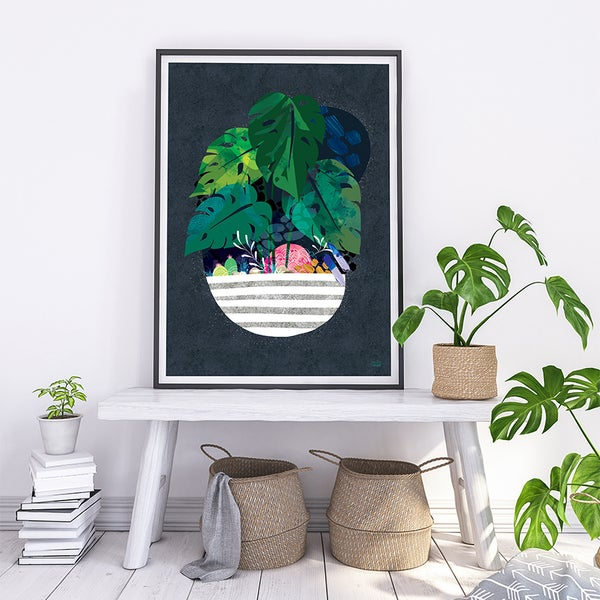 Image of Midnight Monstera - Art Print
