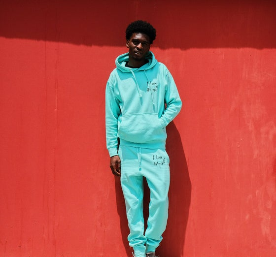 Image of Aqua ILoveMyself sweatsuit