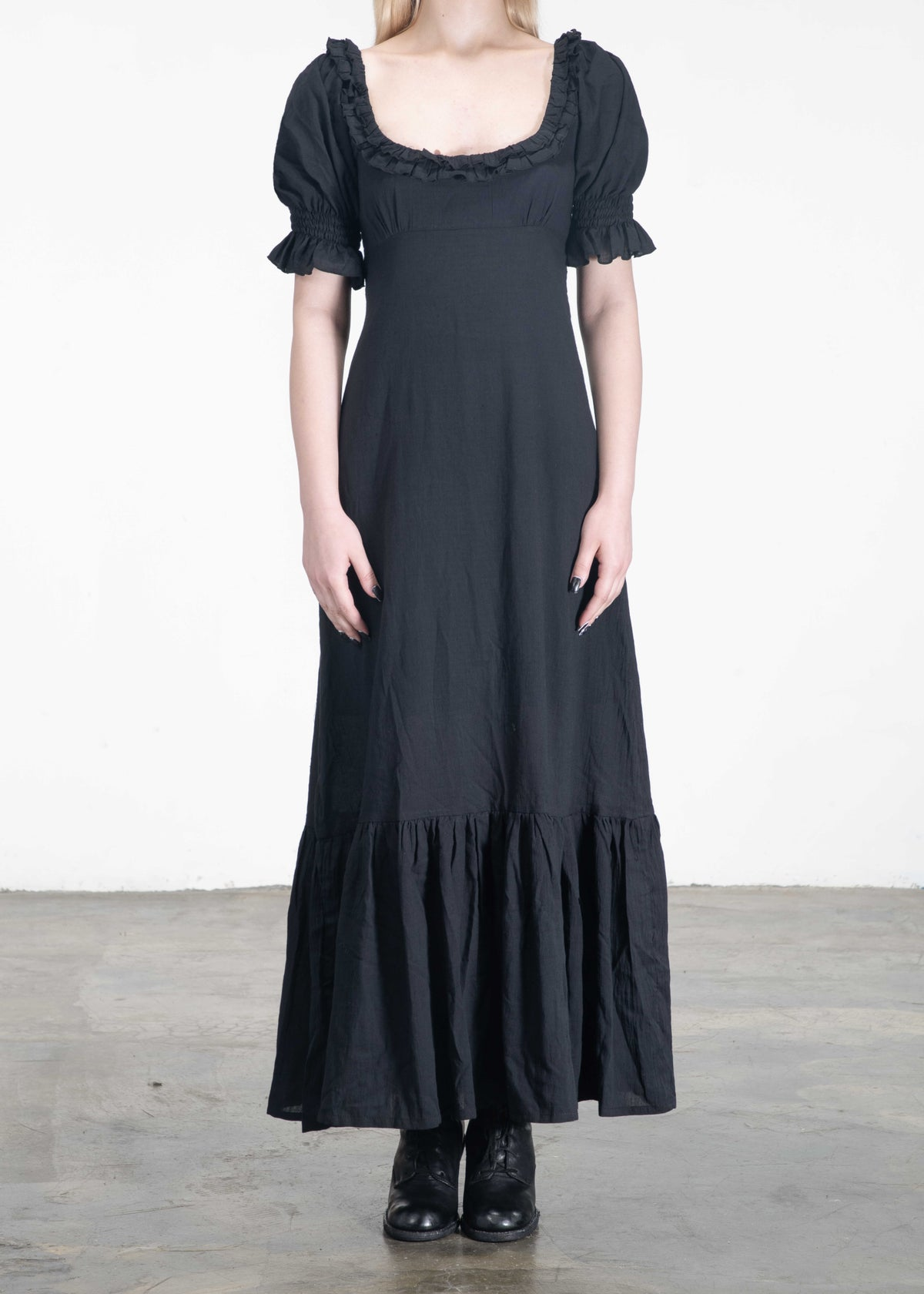 Image of Daisy Ruffled Cuffs Long Dress