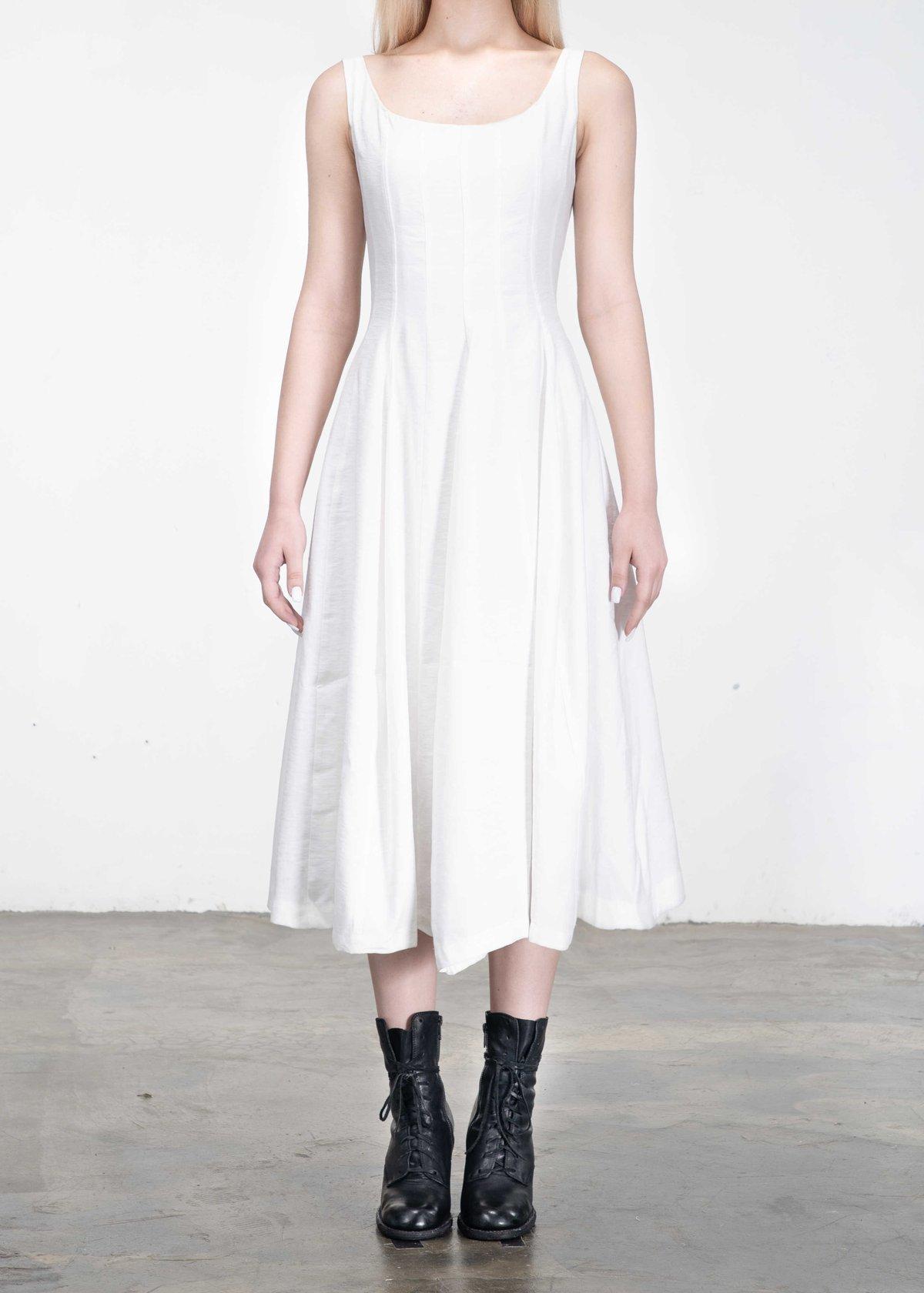 Image of SAMPLE SALE - Corset Dress White