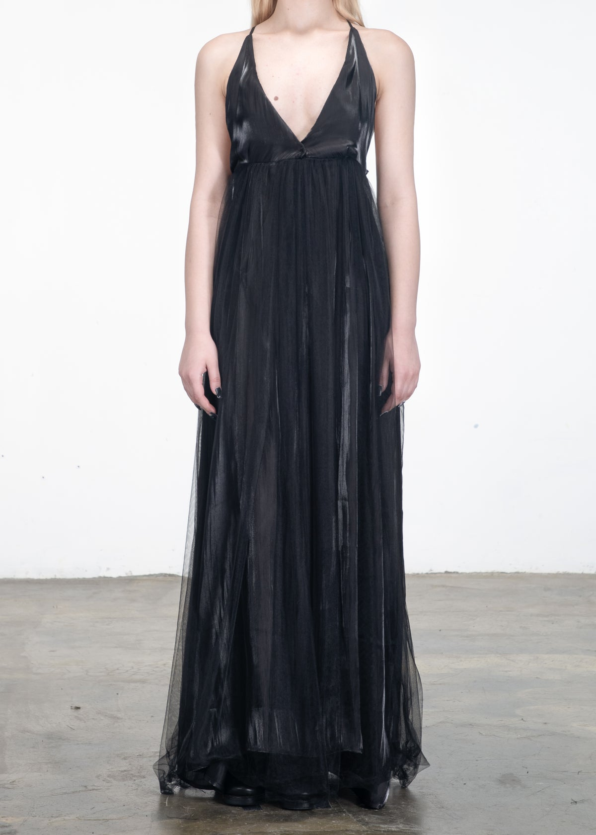 Image of Luna Open V Tulle Dress