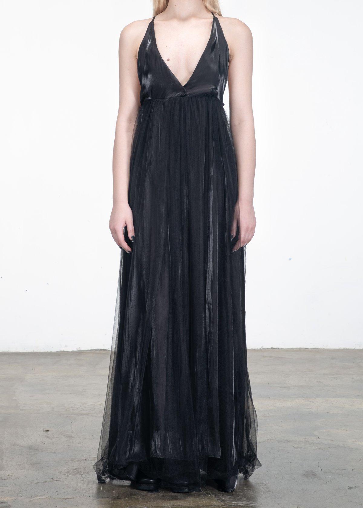 Image of Luna Open V Tulle Dress