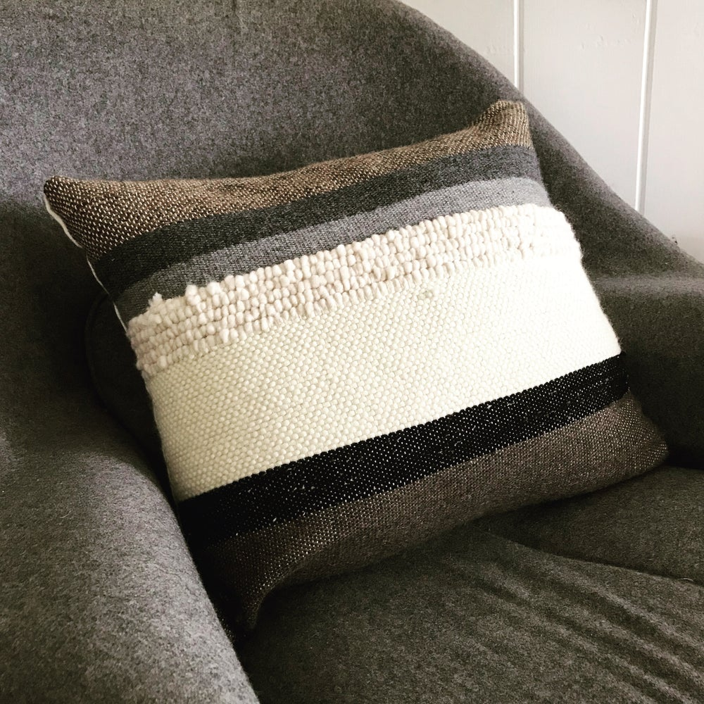 Image of BROWN + CREAM PILLOW
