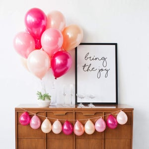 Image of Berry Nice Balloon Bouquet