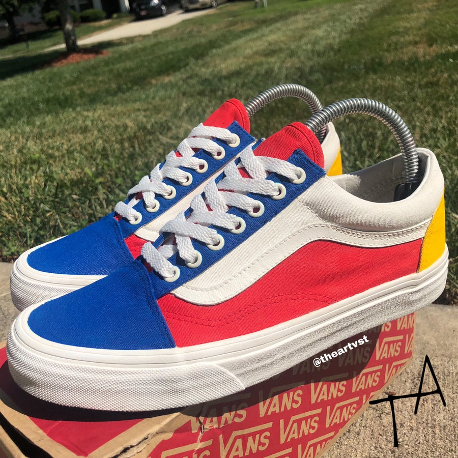 Image of Primary Color blocked Old Skool Vans