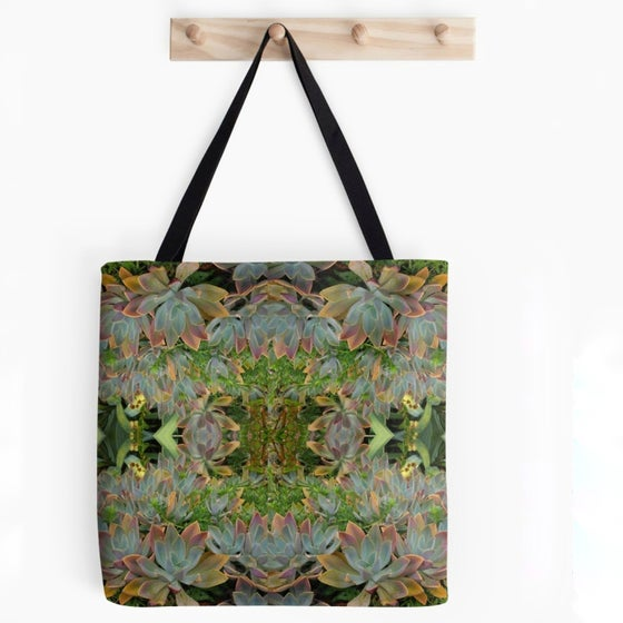Image of #succulovers Tote Bag Green Garden