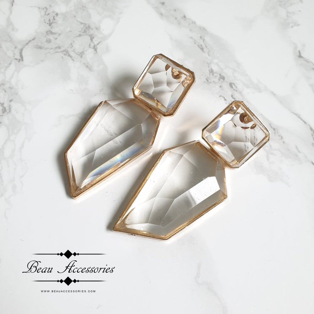 Image of Transparent Statement Earrings