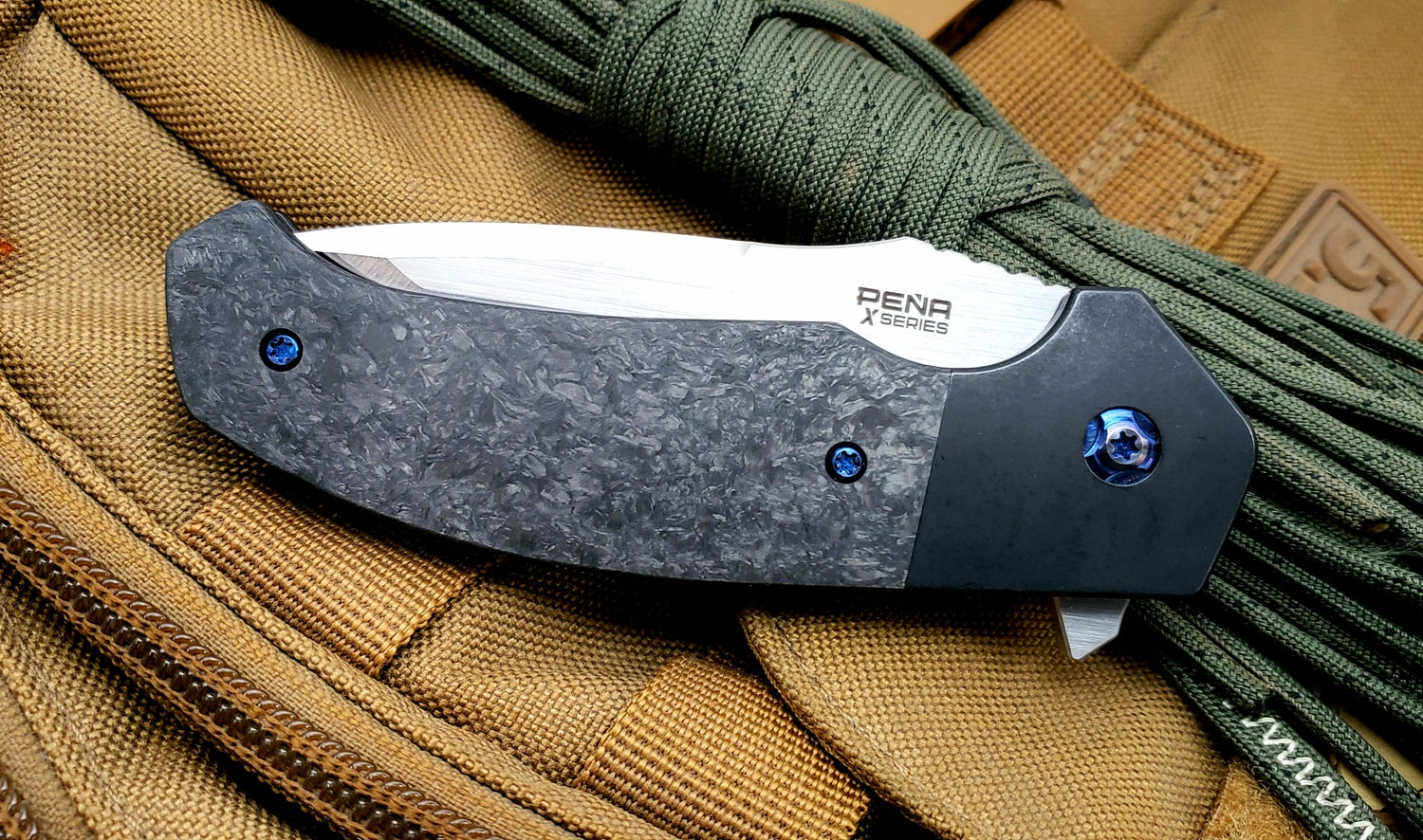 Image of Mini Diesel Flipper with belt satin finish blade