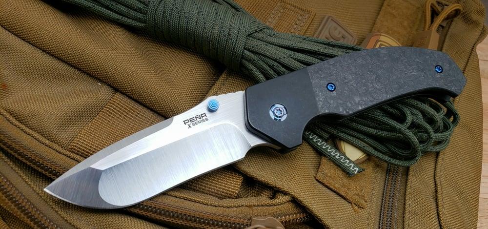 Image of Mini Diesel Thumb Opener with Belt Satin Finish Blade