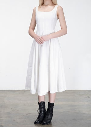 Image of Corset Dress White
