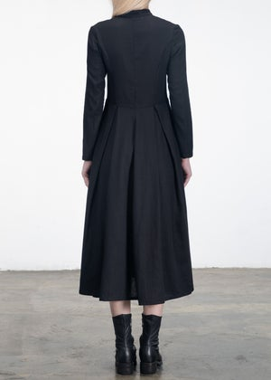 Image of Fitted Linen Shirt Dress
