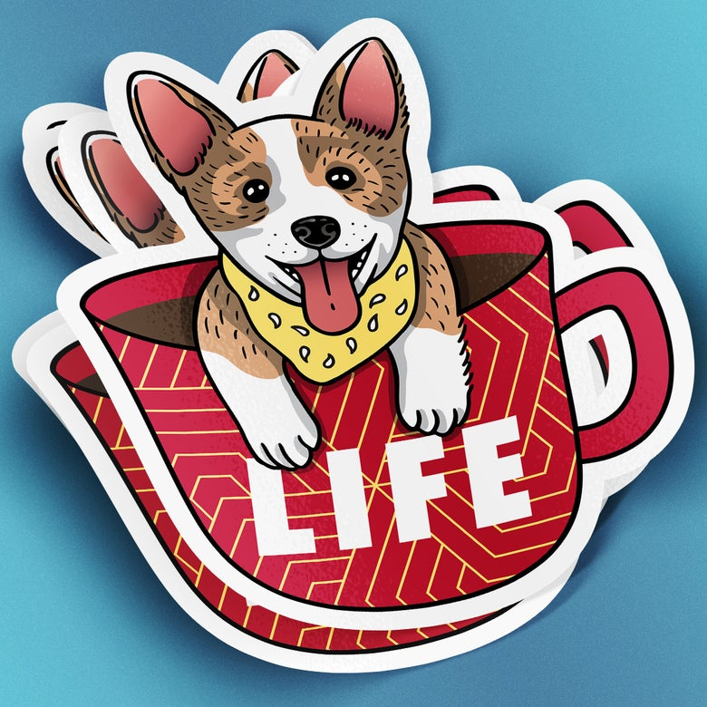 Image of Coffee is Life   Sticker
