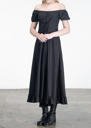 Image of Alice Strappy Long Dress Black