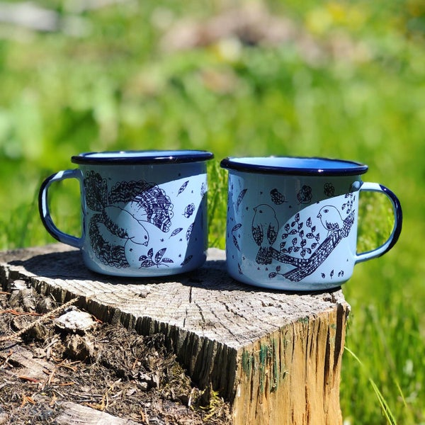 Image of Mug *Coffee and Birds*