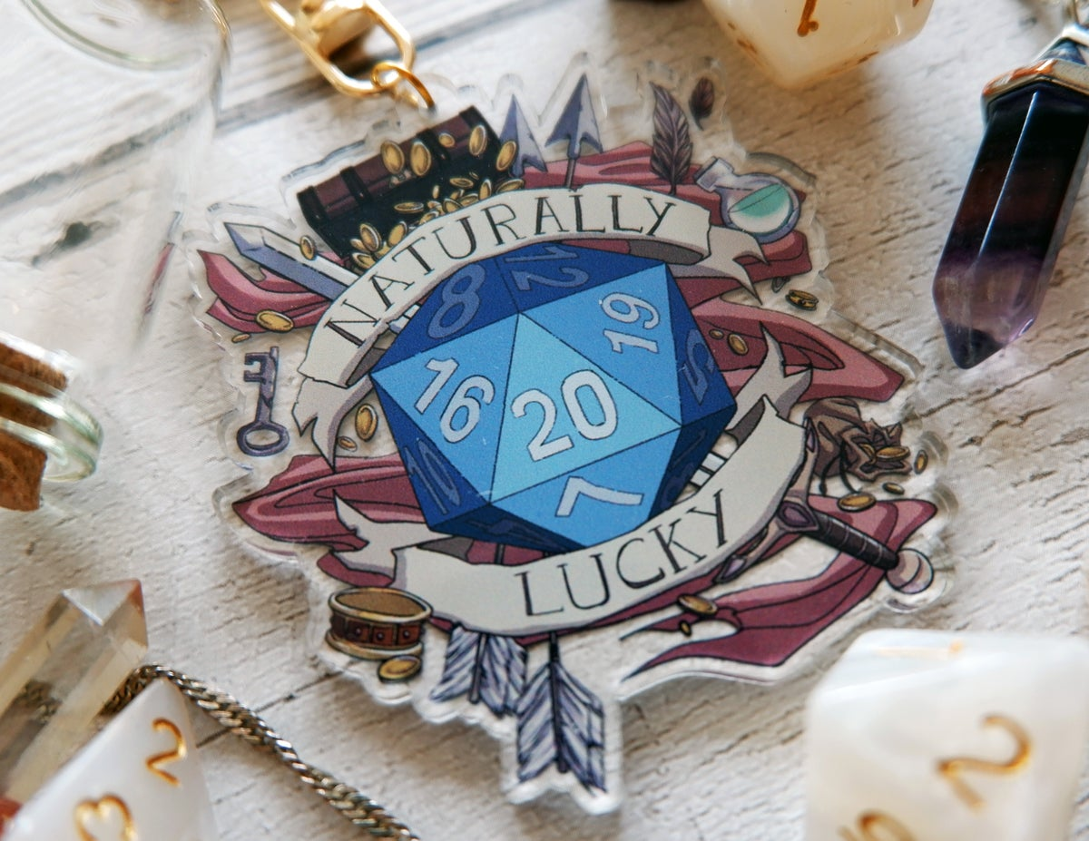 Image of Naturally Lucky - Clear Acrylic Charm