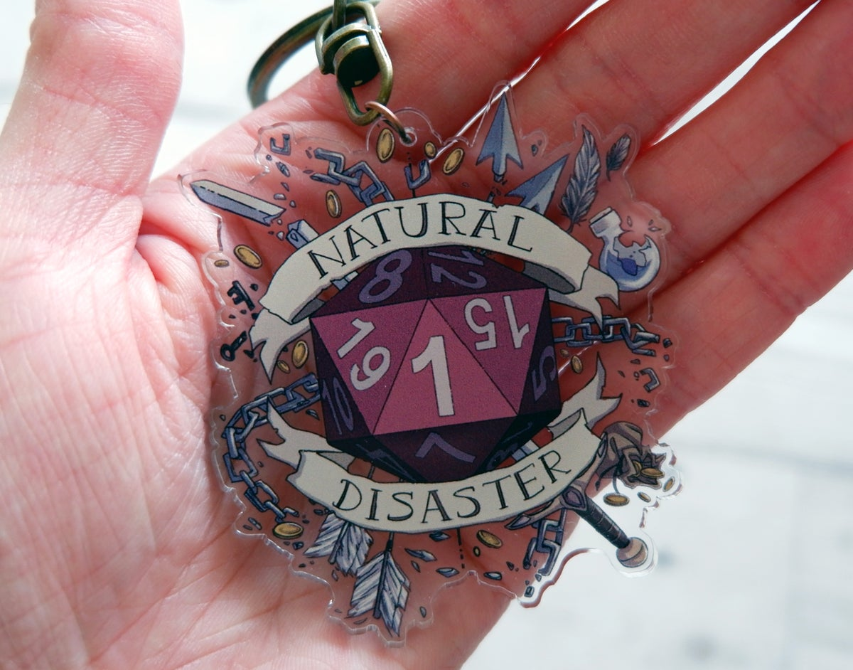 Image of Natural Disaster - Clear Acrylic Charm