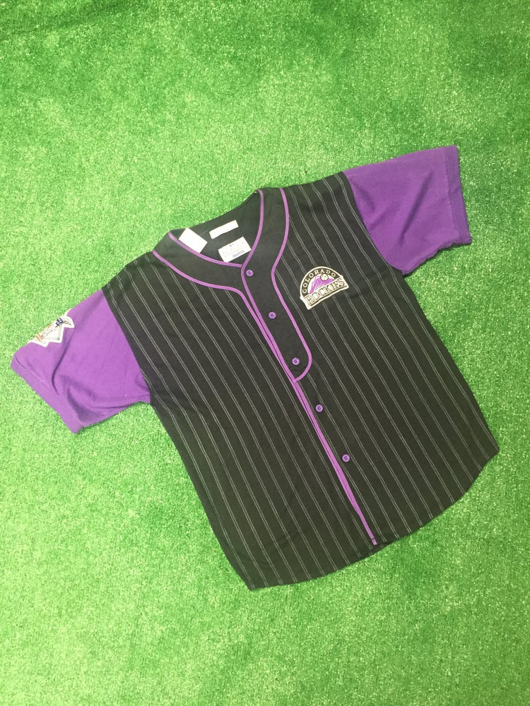 Image of Vintage 90s Colorado Rockies Starter Jersey (Size Large)