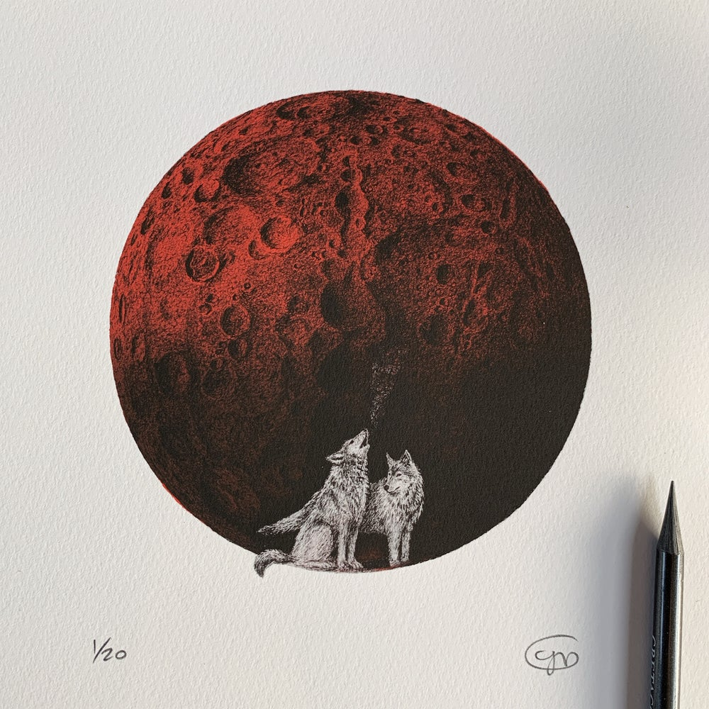 Image of Wolf Blood Moon