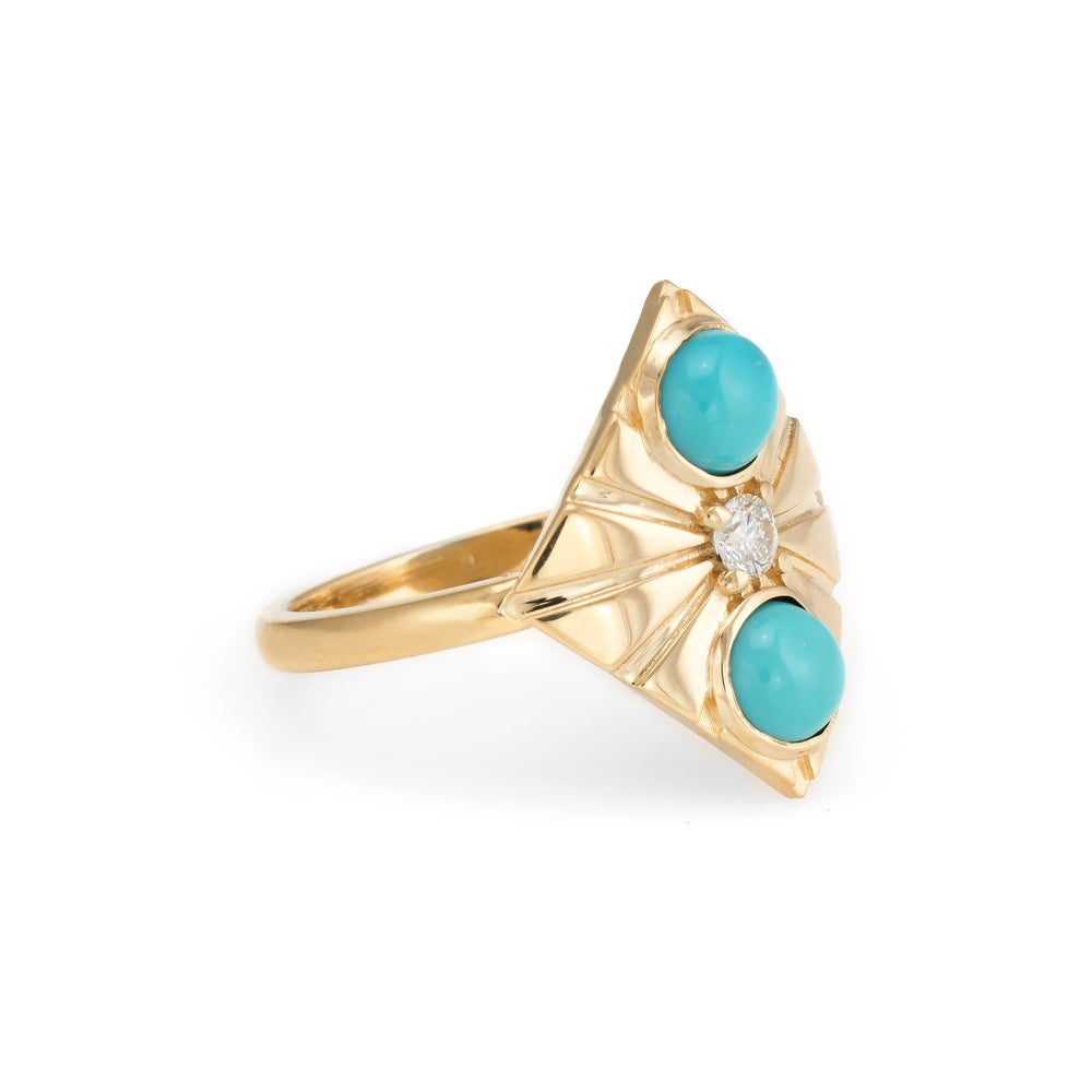 Image of Turquoise Capella Ring
