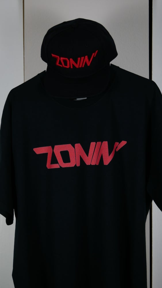 Image of Zonin' Title Tee (Black & Red)