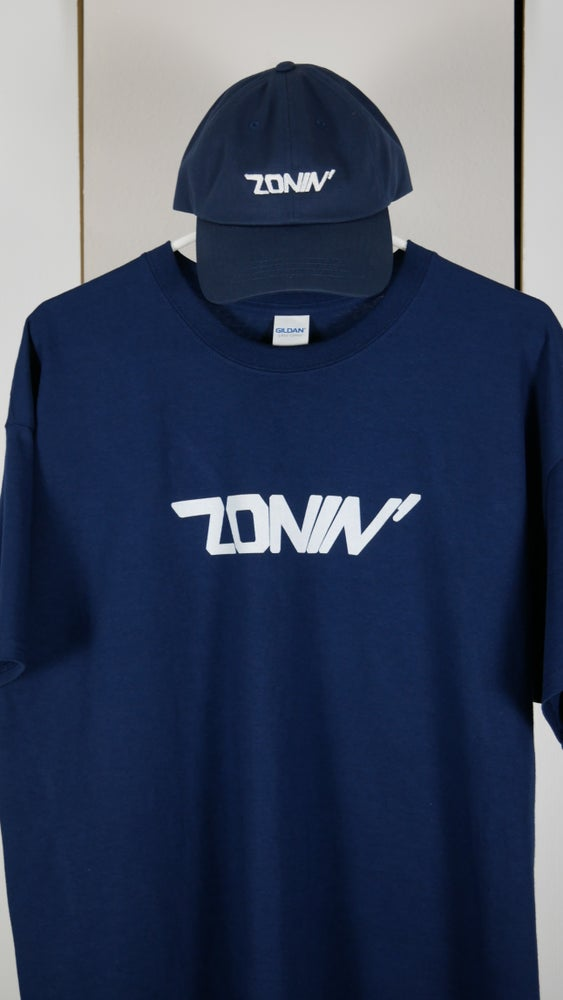 Image of Zonin' Title Tee (Navy Blue & White)