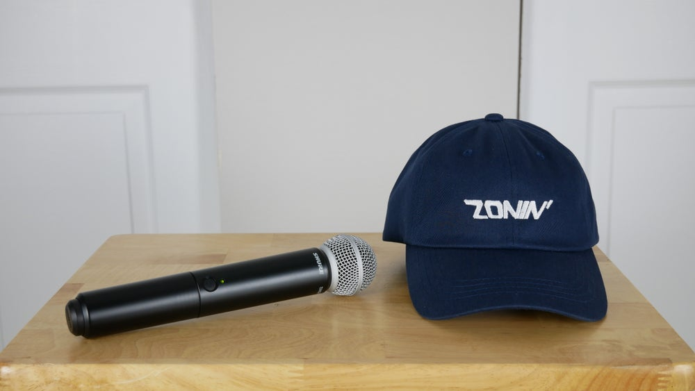 Image of Zonin' Title Dad Hat (Navy Blue & White)