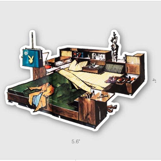 Image of PLAYBOY BACHELOR BED STICKER