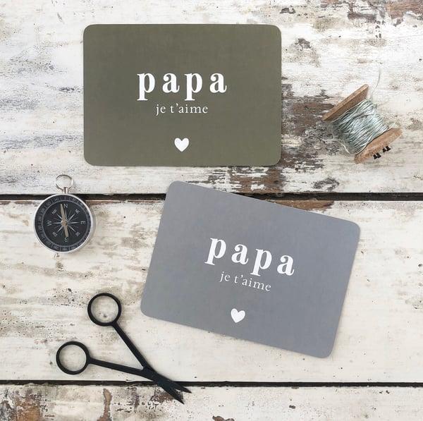 Image of Carte Postale PAPA JE T'AIME / ADELE