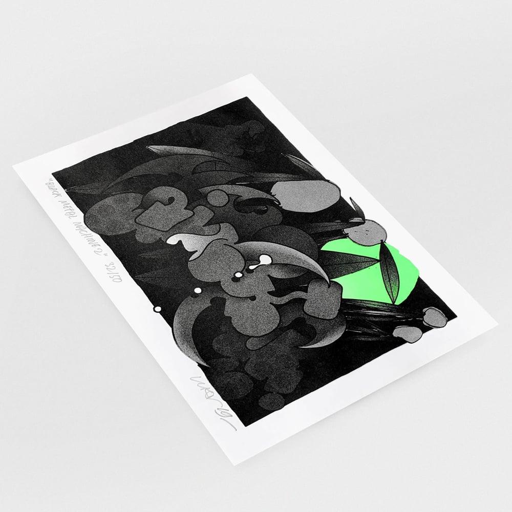"Image of ""Black Metal Machine 2"" print"