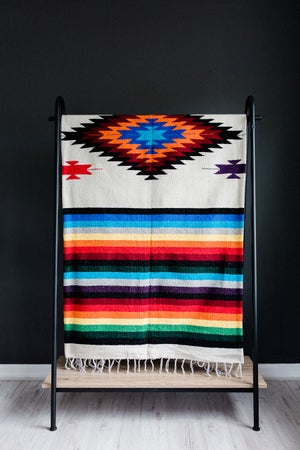 Image of Mexican Blanket featuring 'Diamond' in CREAM