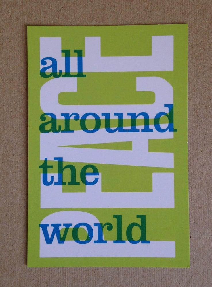 Image of Carte postale PEACE
