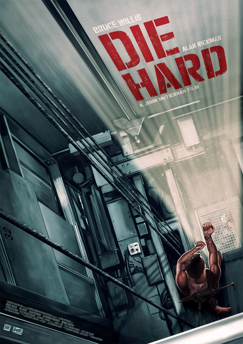 Image of Die Hard A3 (officially licensed artist proof copies)