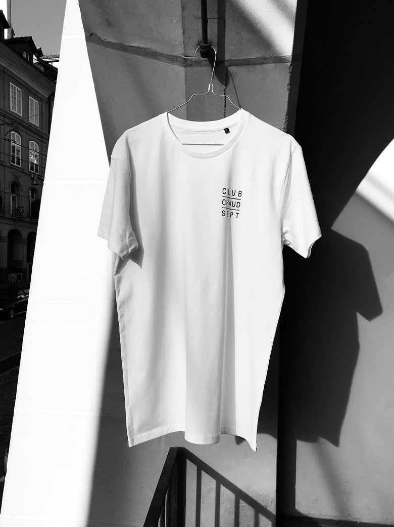 Image of T-Shirt CLUB CHAUD SEPT - white