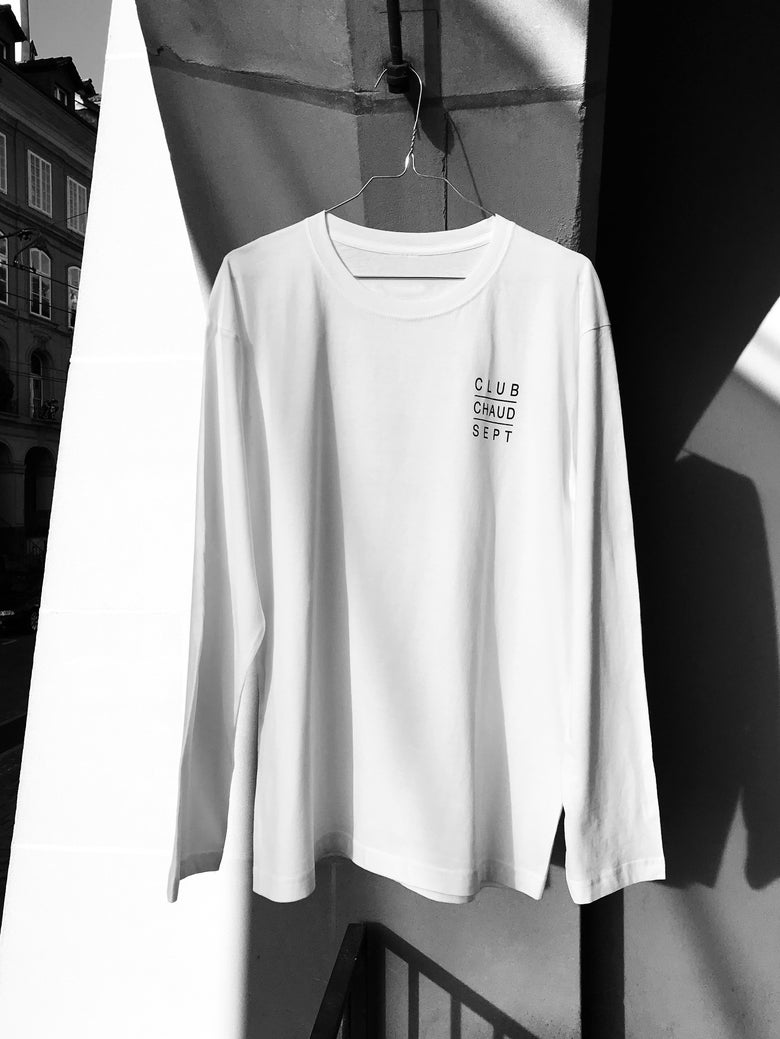 Image of Longsleeve CLUB CHAUD SEPT - white