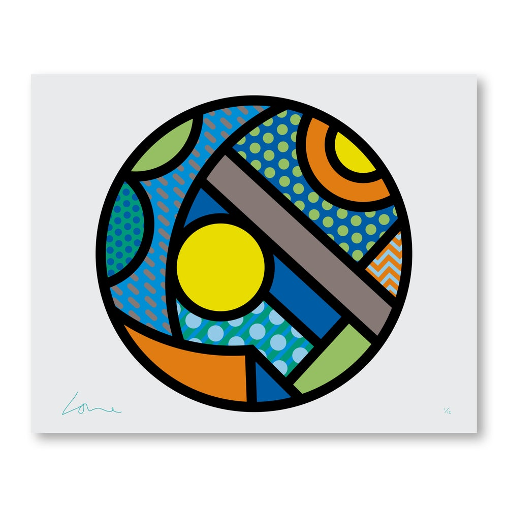 Image of ROUND A (blue)  600mm x 750mm