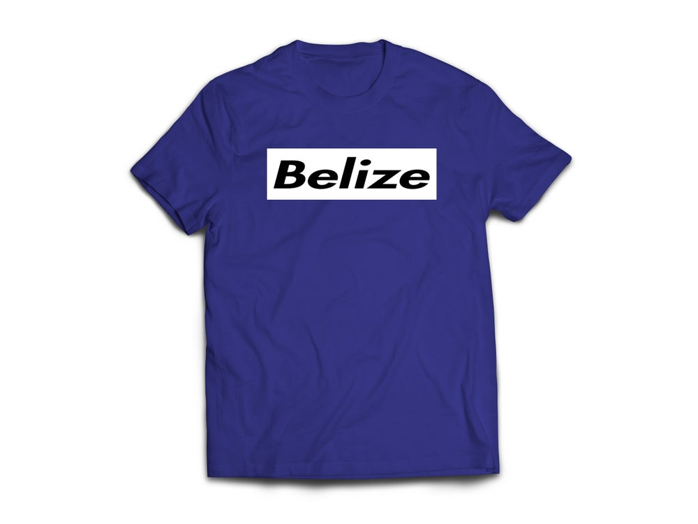 Image of BELIZE T-SHIRT - NAVY BLUE/BLACK(WHITE BOX)