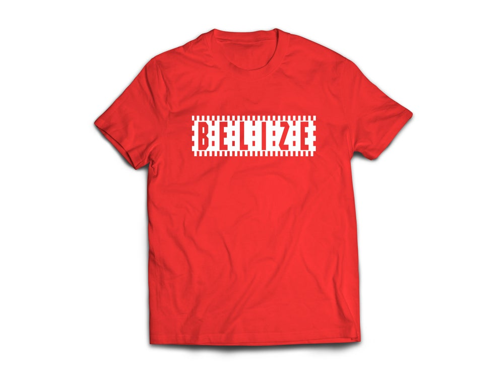 Image of BELIZE T-SHIRT - RED/WHITE CHECKERED