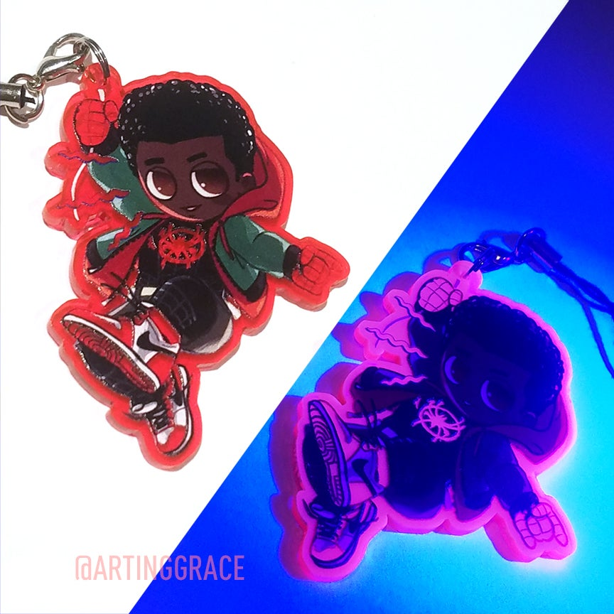 Image of [UV Charm] Spiderverse Miles Morales