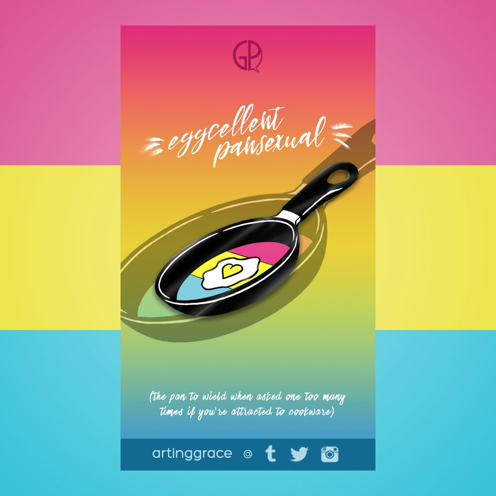 Image of [Enamel Pin] Eggcellent Pansexual
