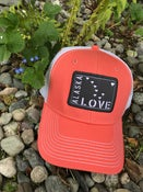 Image of Alaska Love Trucker Hat- Fizz/ Cantaloupe
