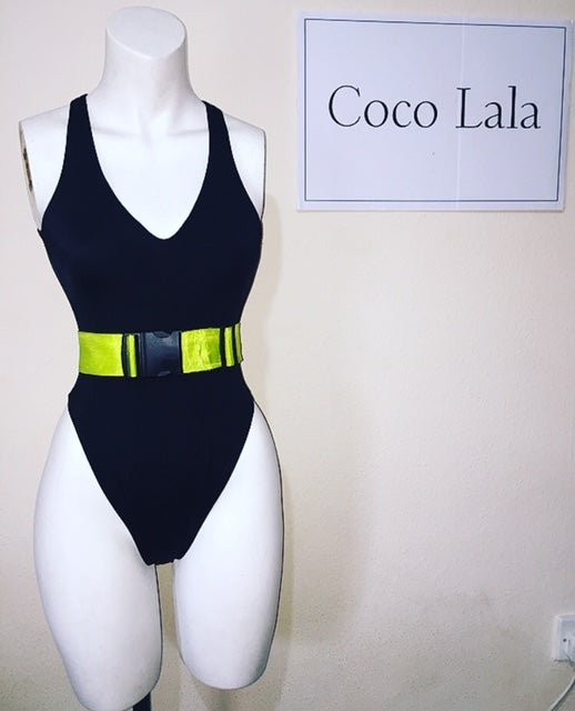 Image of Lime Green Strap Swimsuit