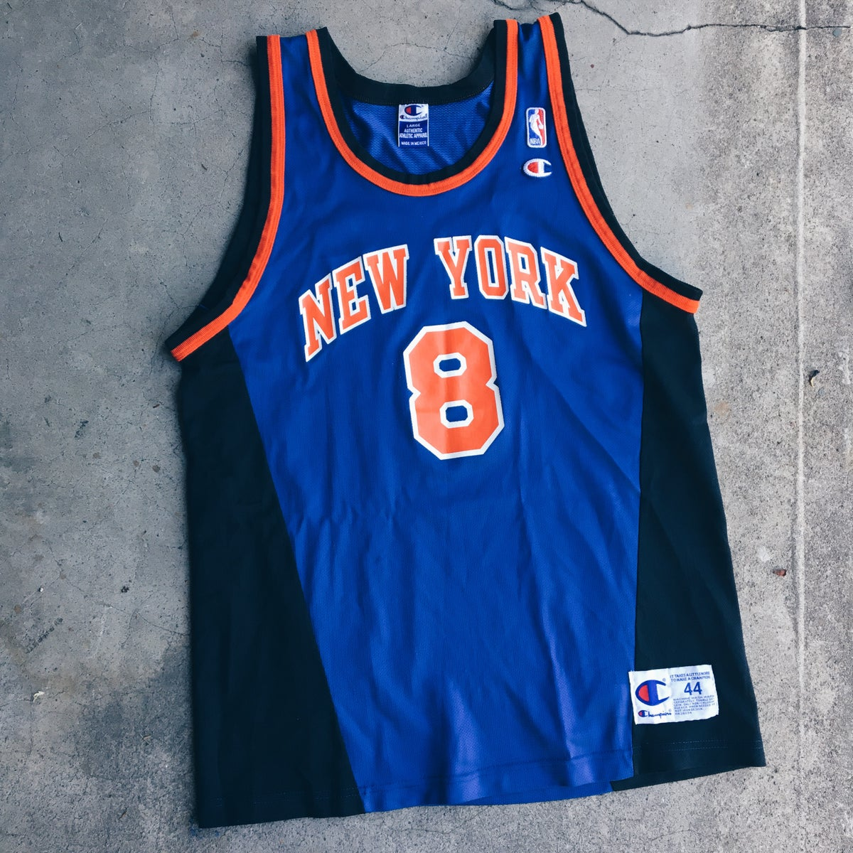 Image of Original 90's Champion Latrell Sprewell Knicks Jersey.
