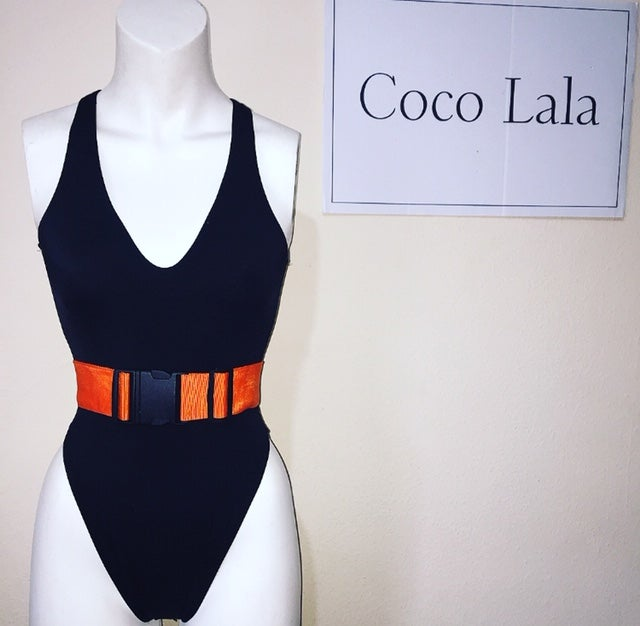 Image of Orange Strap Swimsuit