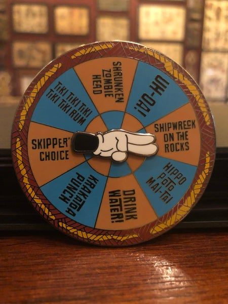 "Image of 3"" Hard Enamel ""Trader Sam's Tiki Drink Spinner"""