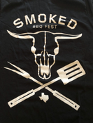 Image of Cow Skull BBQ Shirt
