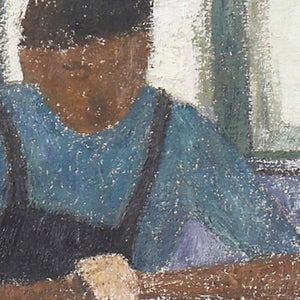 Image of Mid-century, Swedish Portrait, 'A Quiet Moment.'